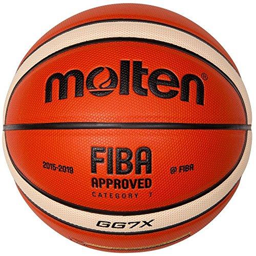 Molten Ballon de Basket Orange/Ivoire, 7, BGG7X-DBB