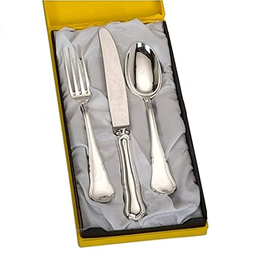 Cubiertos plata 925m cadete 3 piezas modelo barroco [8823]: Amazon.es: Joyería