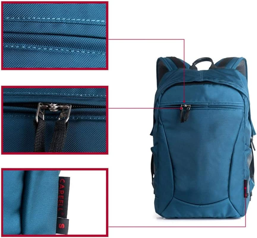 Color : Blue, Size : 20x30x48cm YADSHENG Camera Backpack Bag Waterproof Canvas Men and Women Bag Liner SLR Digital Camera Bag Black and Blue Camera Cases