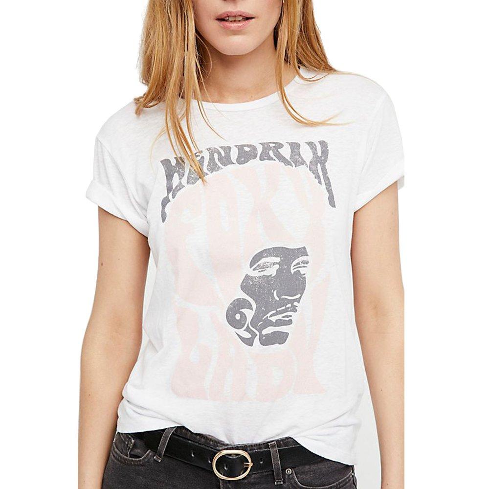 Blanco Camisetas Mujer Algodón Gráfico Tumblr Basicas Elegantes Camisas Poleras Tops: Amazon.es: Ropa y accesorios