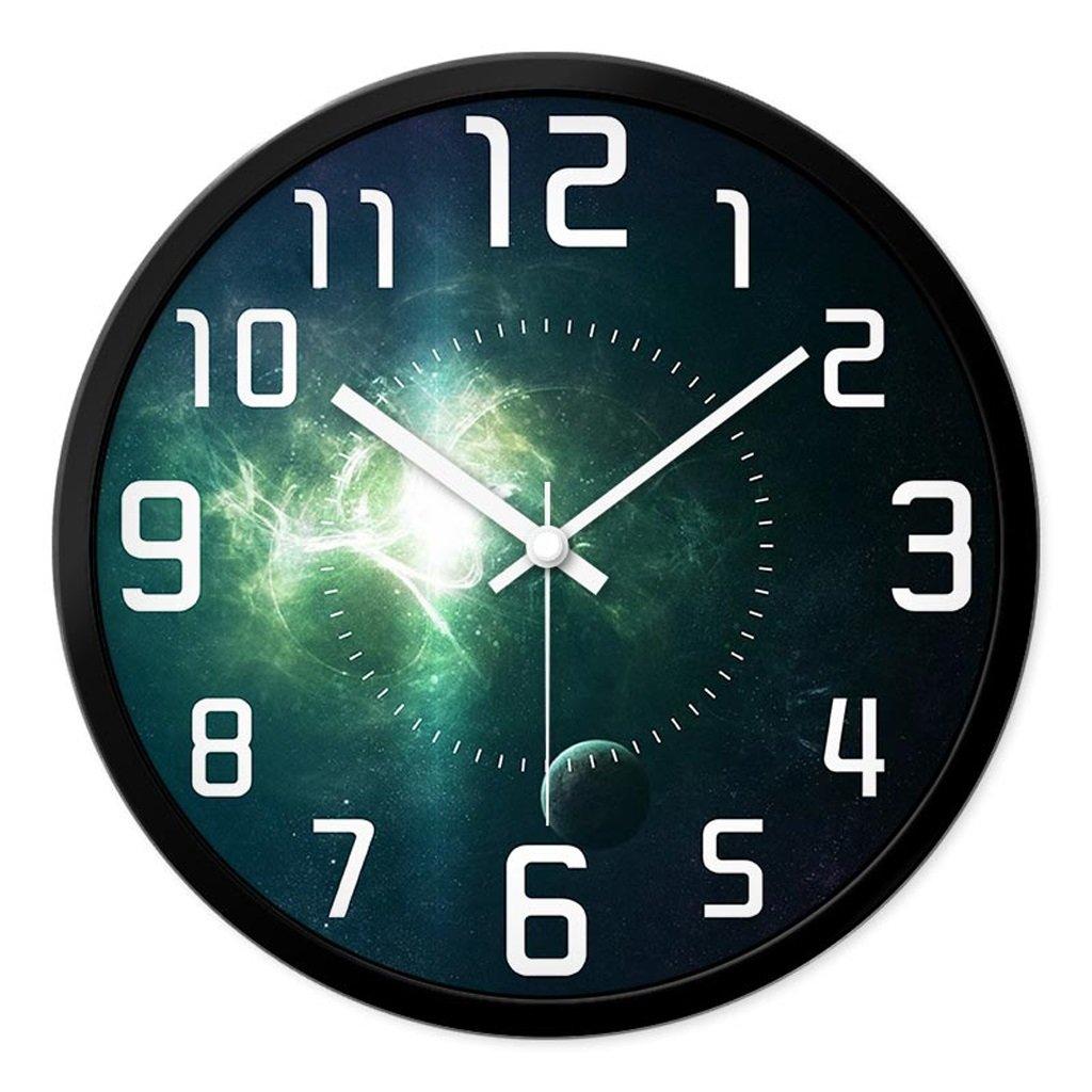 掛け時計 ウォールクロックパーソナライズされた時計と時計ファッションリビングルームクリエイティブホームデコレーションミュートベッドルームモダンレストラン時計ウォールチャート Rollsnownow (色 : ブラック, サイズ さいず : 12インチ) B07BJZD16D 12インチ|ブラック ブラック 12インチ