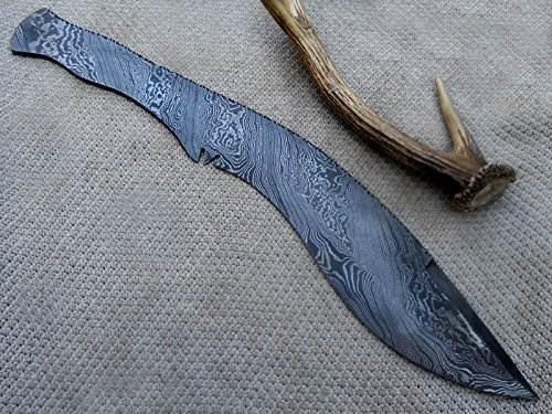 Custom Handmade Damascus Steel Kukri blank blade