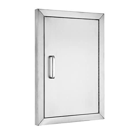 VEVOR BBQ Access Door 304 Stainless Steel BBQ Island Door Single Vertical  Door Right Hinged