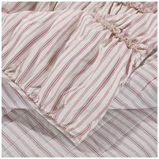 Bedroom Greenland Home Farmhouse Chic Throw Blanket, 50×60-inch, Red farmhouse blankets and throws