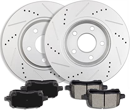 Front Brake Calipers And Ceramic Pads For Chevrolet Cobalt Pontiac G5 Saturn Ion