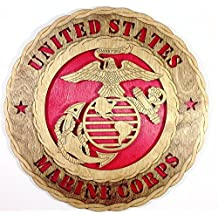 Unique Decorative Custom Laser Crafted Three Dimensional Wooden Wall Plaque - Armed Forces Marines