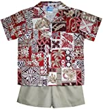 RJC Boys Hawaiian Symbol 2pc Set in Red - 4T