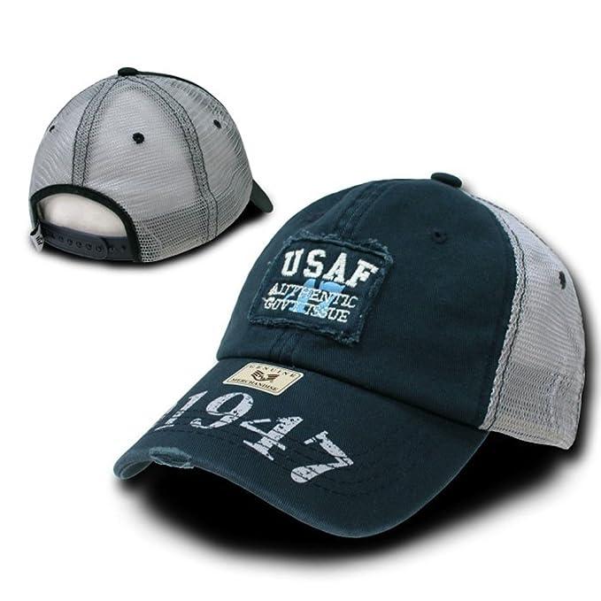 Amazon.com  USAF 1947 HAT CAP VINTAGE PATCH U.S. MILITARY MESH CAPS ... 6830578a50d
