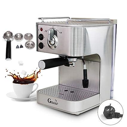 IDABAY Cafetera para Hacer café Espresso Máquina de fabricación de cafés de Acero Inoxidable Inteligente Semi