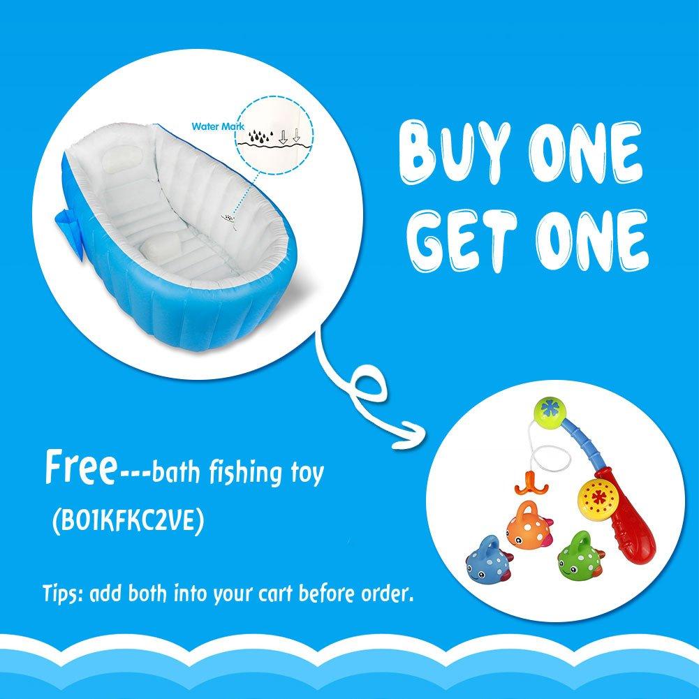 Amazon.com : Baby Inflatable Bathtub, Large Capacity Mini Swimming ...