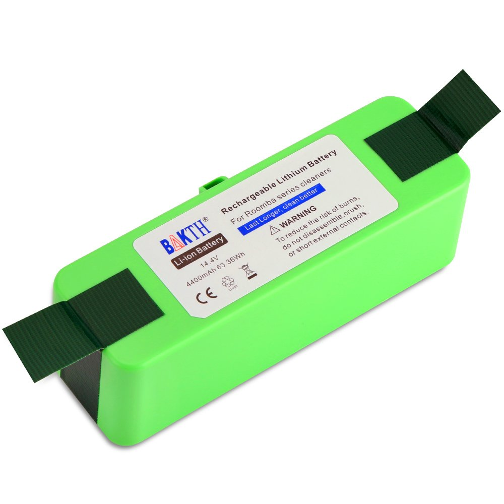 BAKTH 4400mAh Lithium Replacement Battery for iRobot Roomba 500 520 531 532 540 550 552 560 570 595 600 620 630 650 655 660 700 770 780 790 800 870 880 900 960 980 Scooba 450