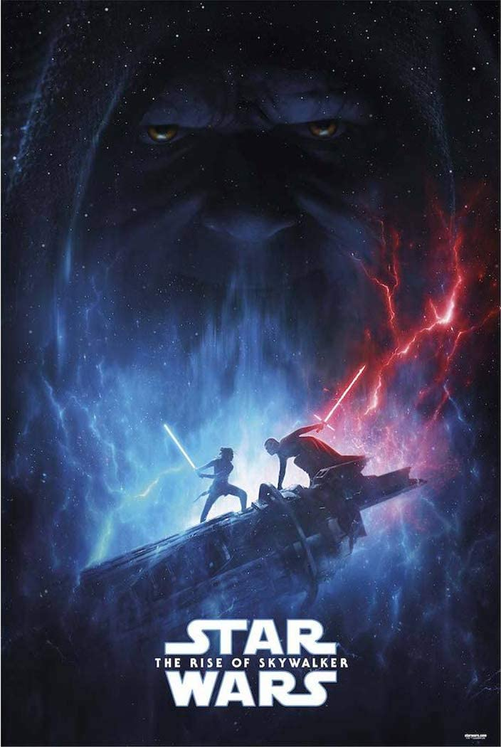 Star Wars: The Rise of Skywalker - Movie Poster (Teaser - Lightsaber Battle) (Size: 24 x 36 inches)
