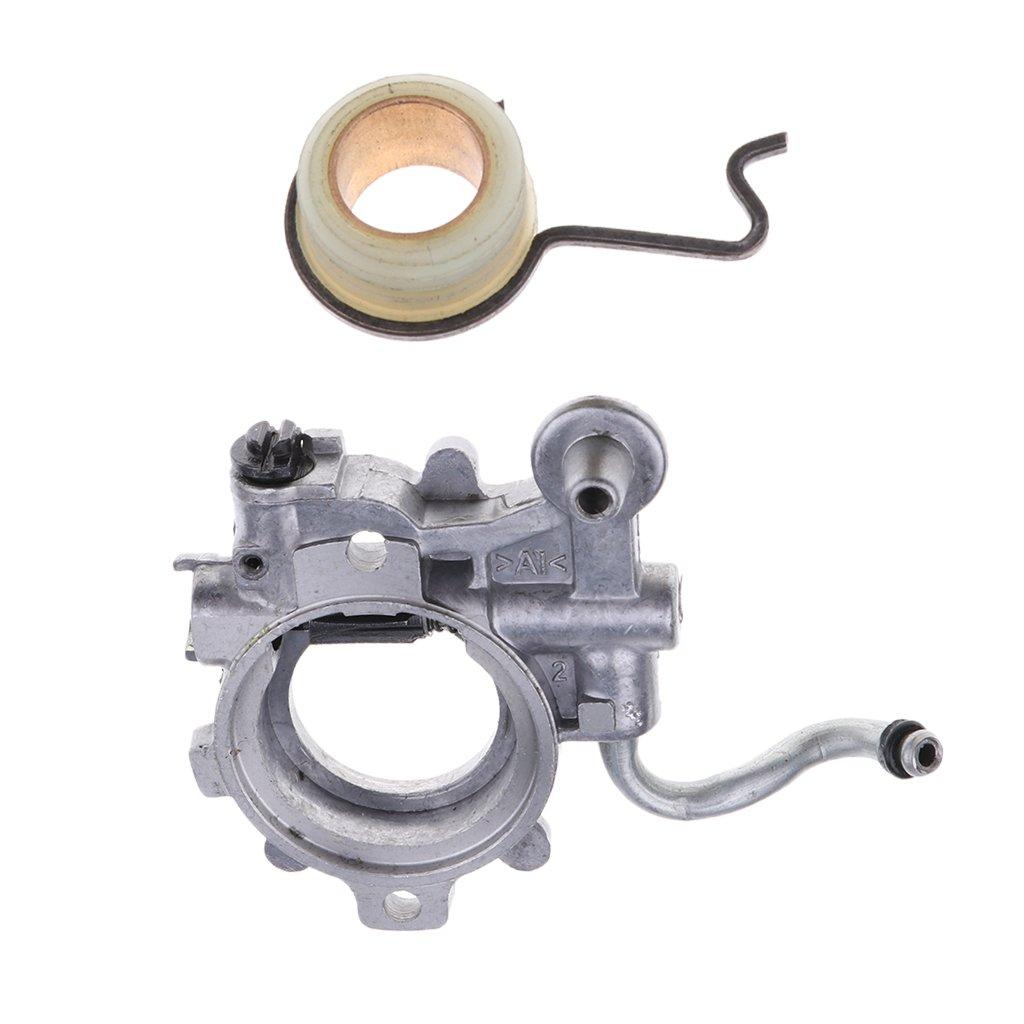 3 Pz Kit Molla Attuatore Vite Pompa Olio Carburatore Per STIHL MS440 Plastica Metallo