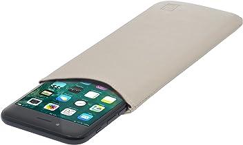 StilGut Pouch Custodia Smartphone Sleeve in Morbida Pelle di Nappa Misura M, Crema Nappa | Compatibile tra Gli Altri con Samsung Galaxy S6, Samsung Galaxy S7, Samsung S6 Edge, HTC 10
