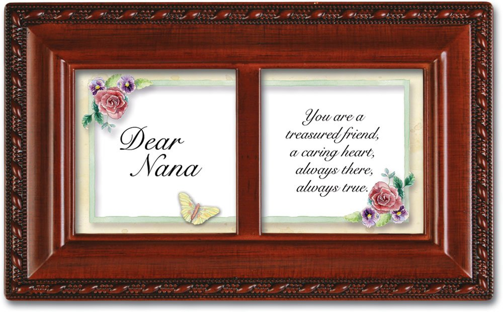 Cottage Garden Dear Nana Petite Woodgrain Music Box Plays Wind Beneath Wings