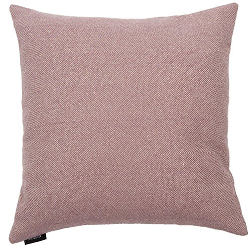 McAlister Textiles Herringbone | Throw Pillow Cover in Lilac Soft Purple | Square 20x20 in. | Plush Soft Woven Tweed Cushion Sham for Bed & Couch | for a Country Cabin Accent Decor ()