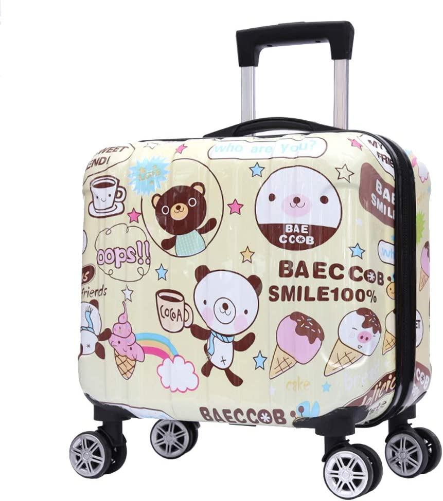 "16"" Unisex Children Carry On Luggage Kids Rolling Suitcase"