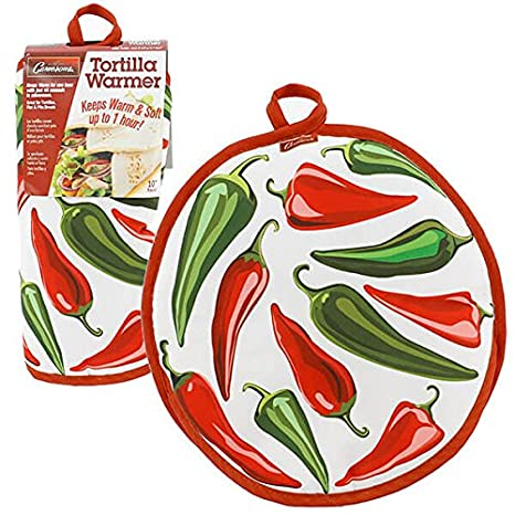 Tortilla Warmer 10- Lady- Insulated Fabric Pouch by Camerons - Keeps warm for one hour after just 45 microwave seconds Camerons Products COMINHKPR93233