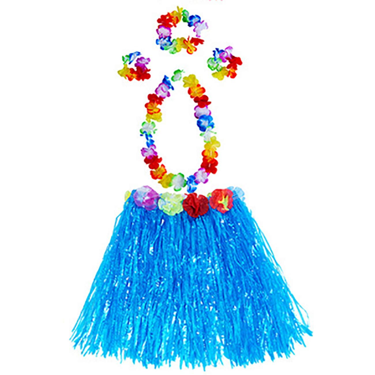 ShiyiUP 5pcs Juego de Falda de Hawaiana para Niñas Verde: Amazon ...