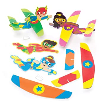 Baker Ross- Planeadores de superhéroes (Pack de 8 ...