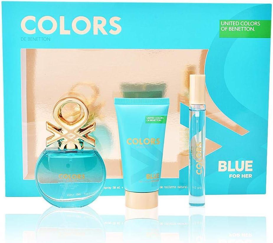 BENETTON ESTUCHE COLORS BLUE: Amazon.es: Belleza