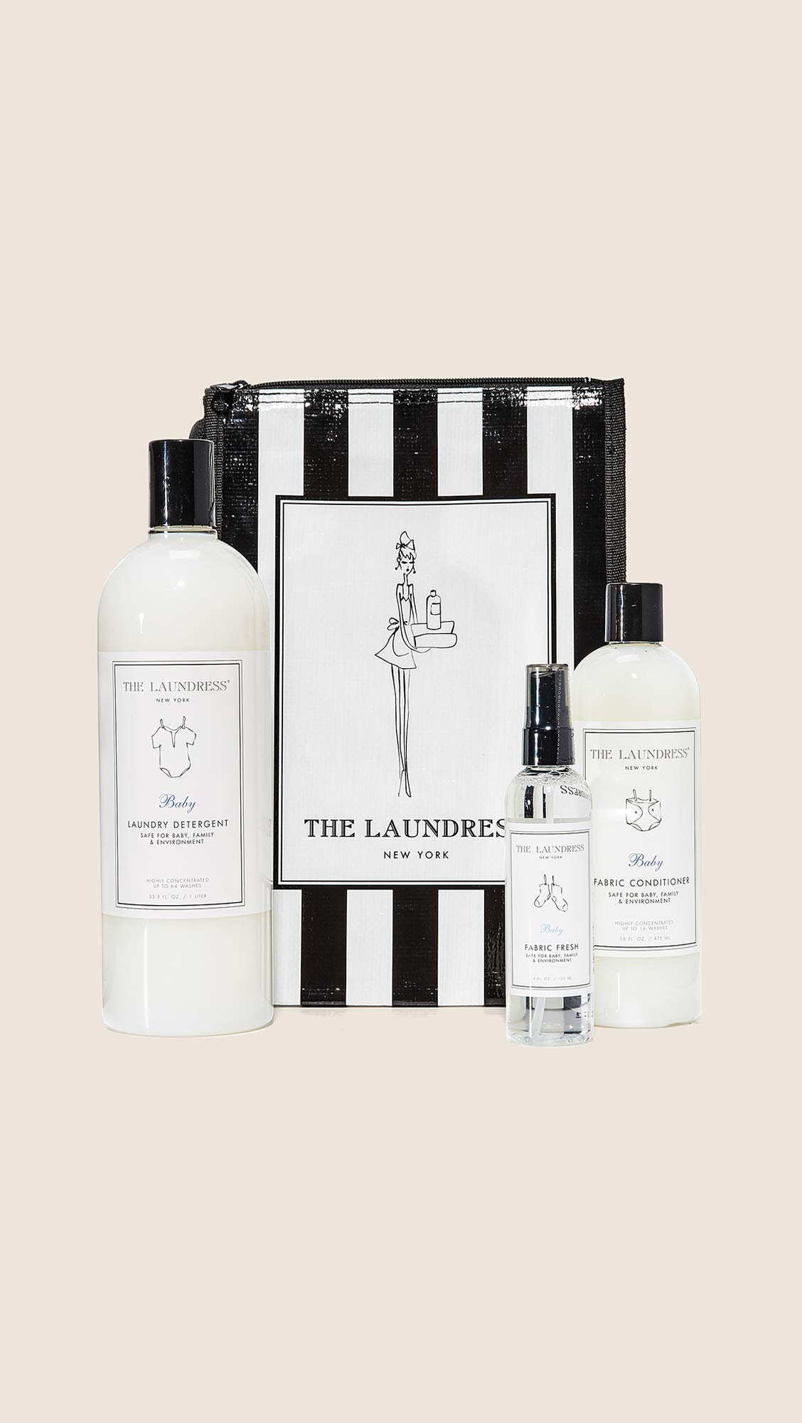 The Laundress Women's Baby Bundle, Black/White, One Size by The Laundress (Image #2)