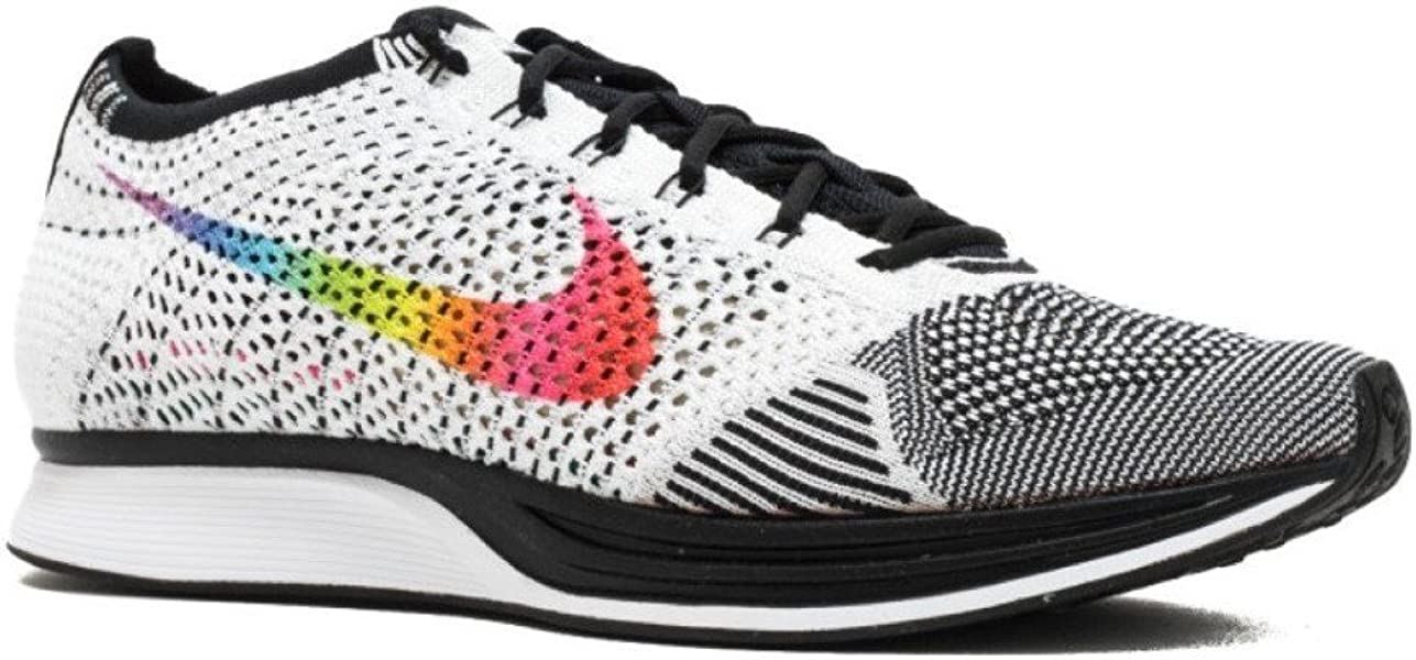 finest selection e7c7e cc681 Nike Men s Flyknit Racer Betrue, White Multi-Color-Black, ...