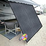 Shatex RV Awning Shade with 90% Privacy Screen Free Kit 8' x 10', Grey