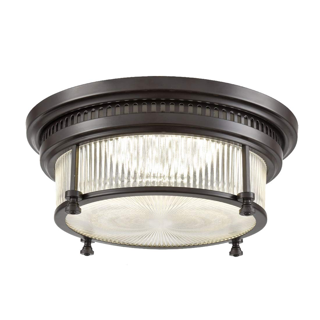 AXILAND Flush Mount Ceiling Lights with Clear Glass, 28W, 2380lm, 4000K Neutral Light, Oil Rubbed Bronze