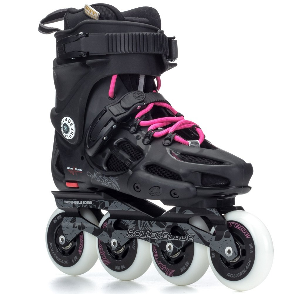 Rollerblade Women's Twister 80 Urban Skate 2015, Black/80s Pink, US 6 by Rollerblade