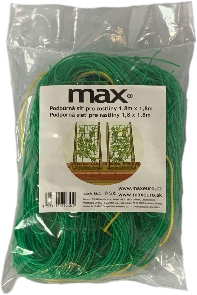maxpack/® Premium Ranknetz Gartennetz in verschiedenen Gr/ö/ßen f/ür Gurken Tomaten und andere Gem/üse- oder Kletterpflanzen Pflanznetz 1,8 x 2,7 Meter