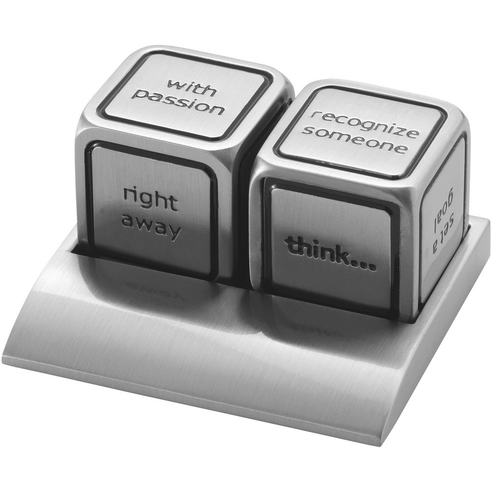 Bullet Vegas Decision Maker Dice (One Size) (Silver)