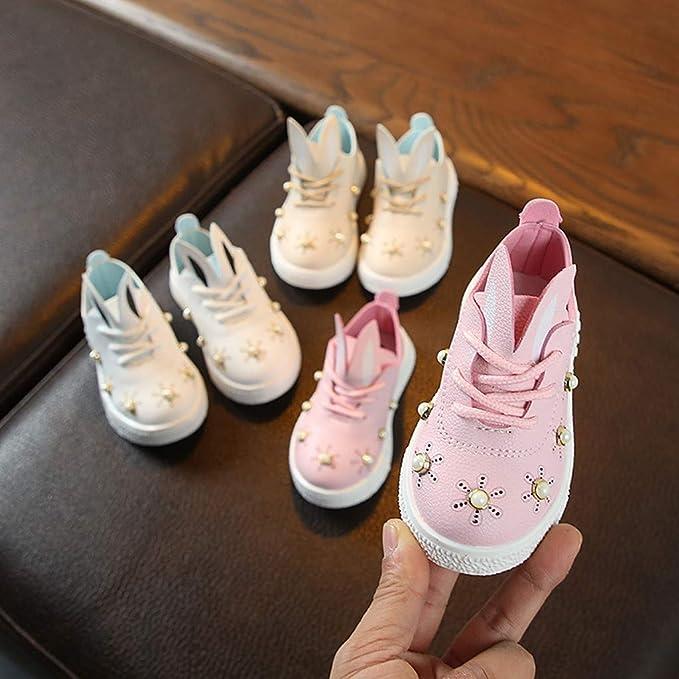 Amazon.com: Zapatillas de bebé para niños y niñas, casuales ...