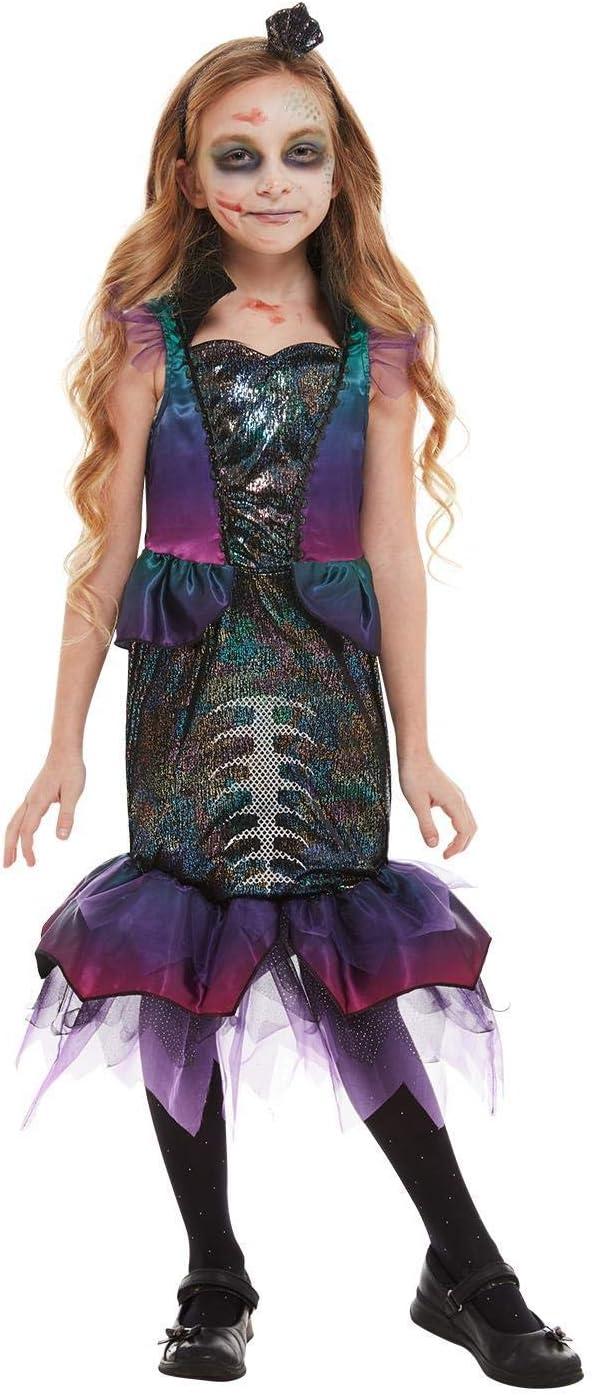 Smiffys 51077M - Disfraz de sirena oscura para niña, talla M, 7-9 ...