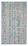 Safavieh Windsor Collection WDS311S Spa and Fuchsia Vintage Distressed Bohemian Area Rug (3' x 5')