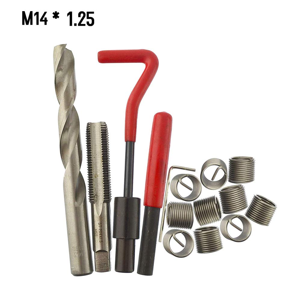 outil 30Pcs de bobine de voiture de Helicoil Car Pro Tickas Kit dinsertion de r/éparation de filetage m/étrique