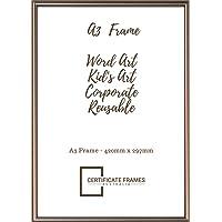 A3 Aluminium Certificate/Document/Art/Poster Frame (Rose Gold)