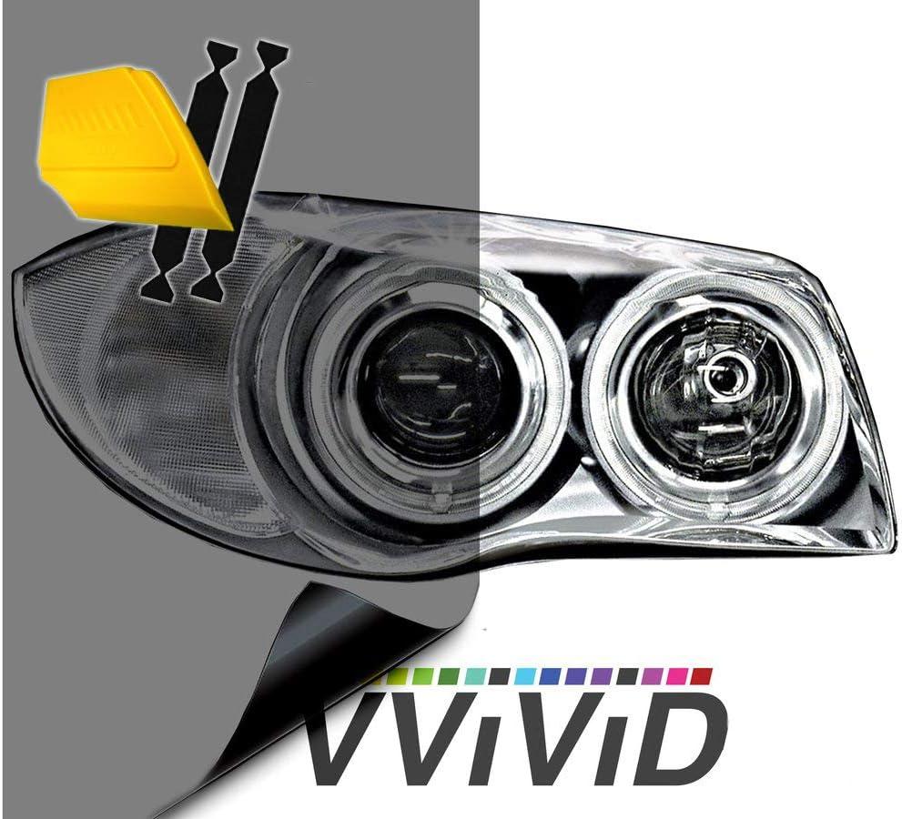 16 x 48 VViViD Air-Tint Headlight//Tail Light Window Tint w//Tools , Smoke Black