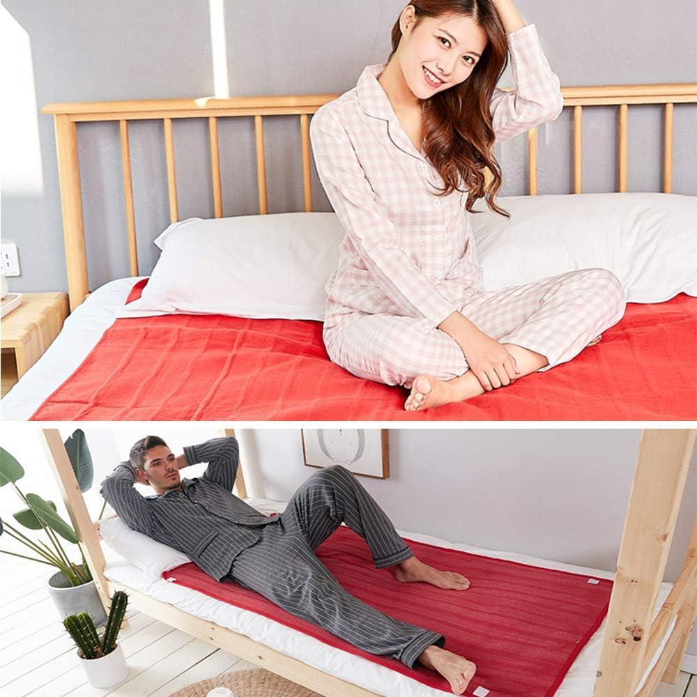 Travel Camping HAIBU Heated throw blanket,Electric Heating Blanket Fleece Heat Settings,Great Warm Supplies for Home 110V