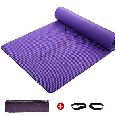 Haodan electronics Élargir et épaissir tapis de yoga NBR de 15 mm, tapis de yoga inodores, tapis de yoga antidérapants double face et tapis de fitness, 185 * 80 cm