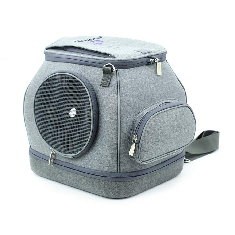 Grey Pet Carrier handbag for Small Cats and Dogs Ventilated, Folding design Designed for Travel, Hiking&Outdoor Use