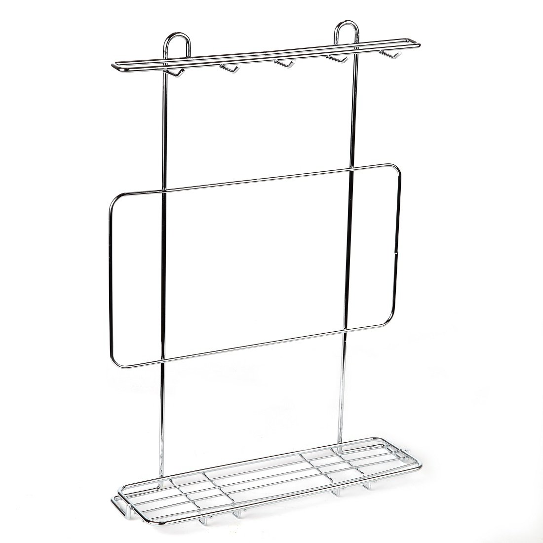 Home-X Kitchen Utensil Rack. Chrome SH770