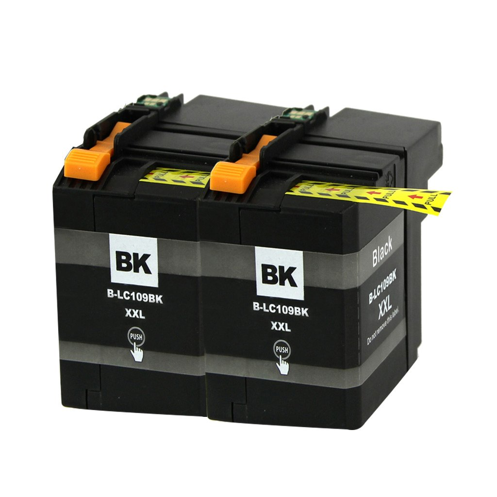 PERSEUS LC109BK XXL Replacement for Brother LC109XXL LC109BK Super High Yield XXL Ink Cartridge Black(Pack of 2)