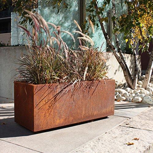 Corten Steel Long Box Planter by Veradek (Image #2)