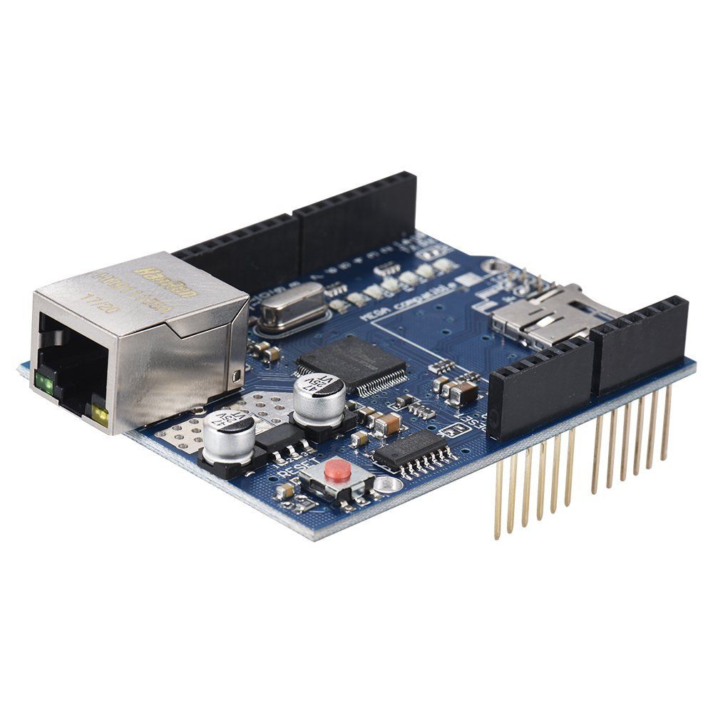 Docooler W5100 Expansi/ón Tablero UNO Ethernet Proteger con Micro Dakota del Sur Tarjeta Espacio para Arduino