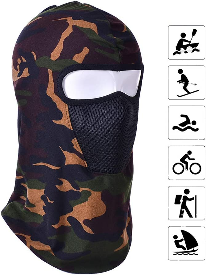 SAIrch Tactical Hood Headwear Balaclavas Full Face Mask,Thermal Motorcycle Neck Warmer Winter Windproof Ski face Mask,Camouflage Fishing Face Cover,Winter Snow Gear for Hunting Fishing /& Camping