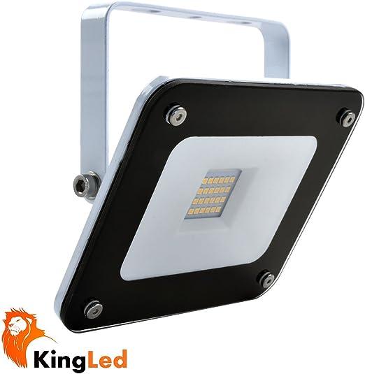 Foco proyector LED SuperSlim 20W SMD 3030 220V Color Blanco cálido ...