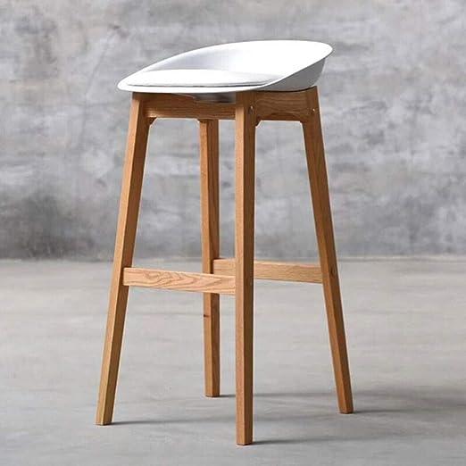 Taburete de bar Taburete moderno minimalista de madera maciza ...