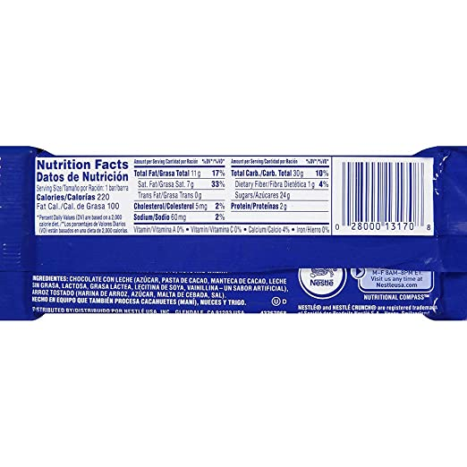 Nestle Crunch Candy Bars (Pack of 16) By CandyLab