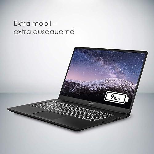 MSI Modern 15 A10RAS 095 39 6 cm 15 6 Zoll Full HD 100 sRGB Premium Laptop Intel Core i5 10210U 8GB RAM 512GB PCIe SSD Nvidia GeForce MX 330 Windows 10 onyx black